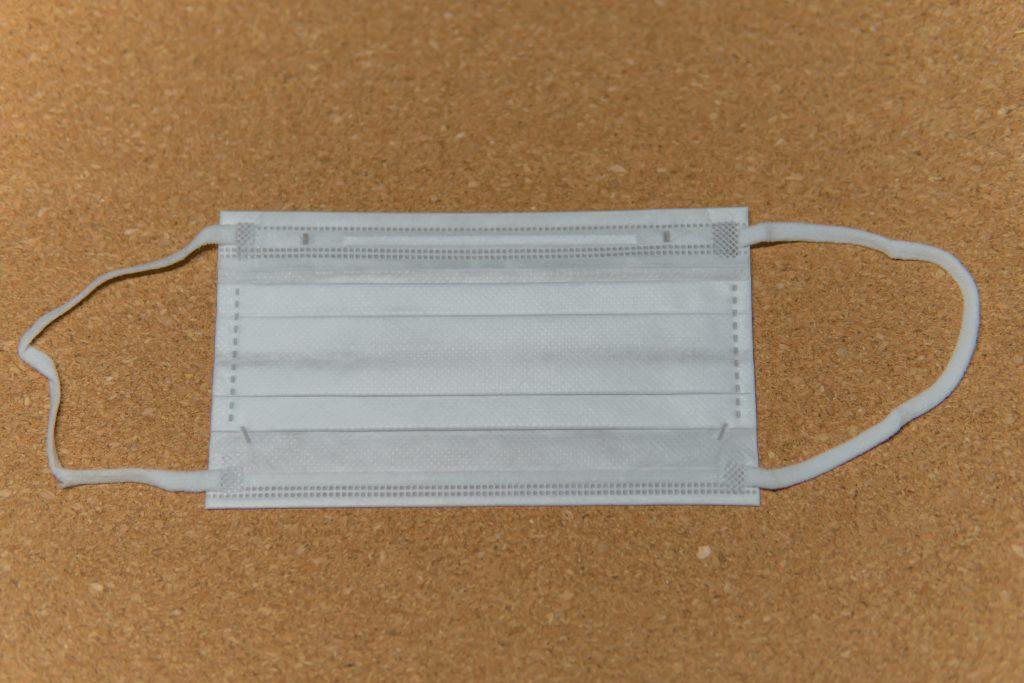 オメガ折り型プリーツマスク