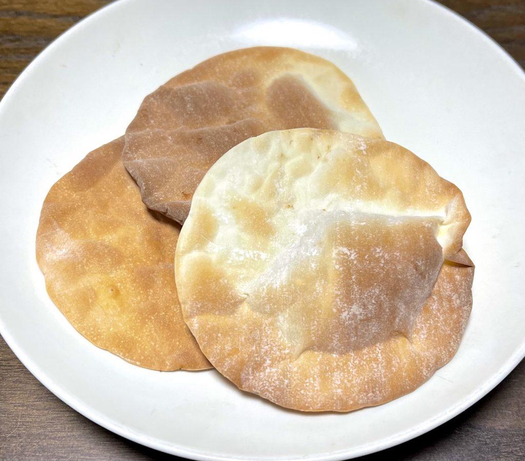 餃子の皮の煎餅
