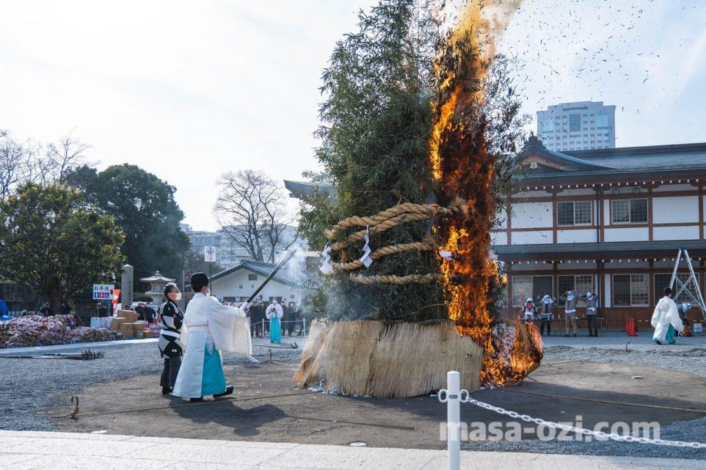 護国神社-とんど祭り-昼撮影その7