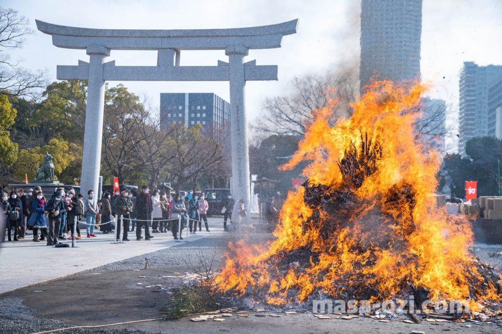 護国神社-とんど祭り-昼撮影その9