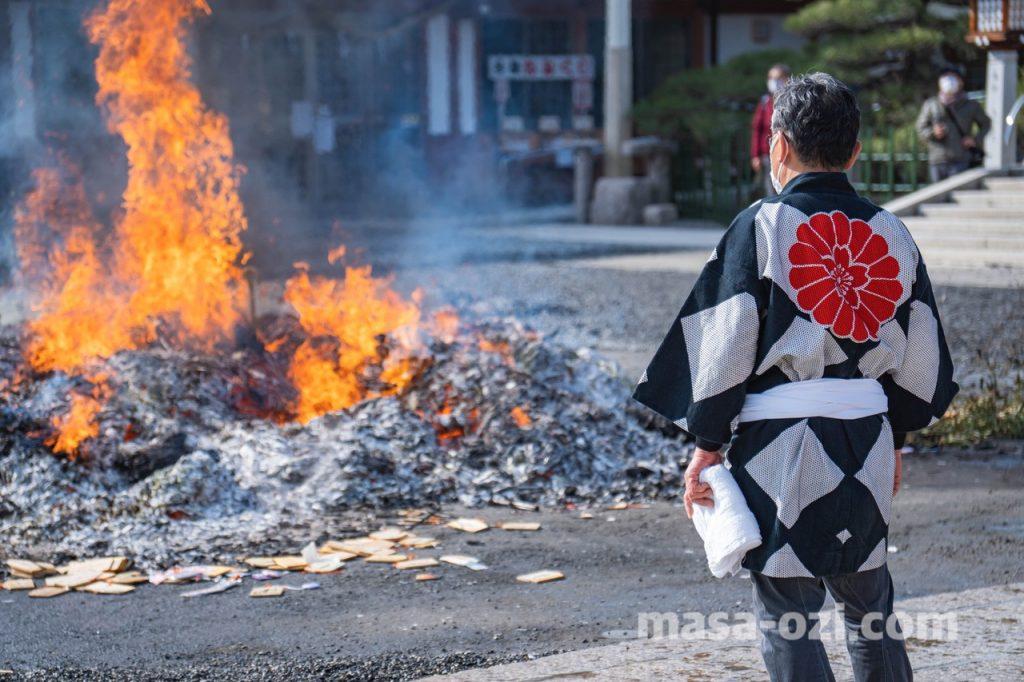 護国神社-とんど祭り-昼撮影その12